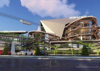 Az új épületegyüttes látványterve